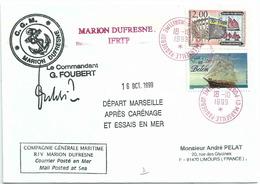 YT 2545 Musée Du Bateau Douarnenez - YT 3274 - Belem - Essai En Mer Du MD à Marseille - 18/10/1999 - France