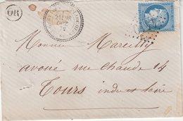 """FRANCE : GC 4410 . """" ST GERVAIS -LES-TROIS-CLOCHERS """" . (80) . N° 60 . 1872 . - Storia Postale"""