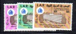 APR938 - LIBIA LYBIA 1973 , Serie Yvert  N. 495/497  ***  MNH  (2380A) - Libia