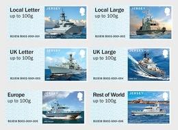 Jersey Distributeur 086/91 Bateaux, Navires De Guerre - Militares