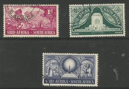 South Africa - 1949 Voortrekker Monument  Used  SG 131-3  Sc 112-4 - South Africa (...-1961)