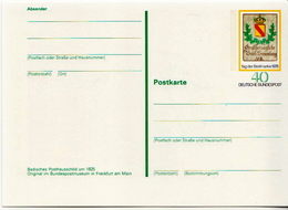 Germany Mint Postal Stationary Picture Card From 1978 - Philatelic Exhibitions