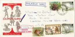 Registered Letter From Honiara Sent To Laredo. Texas,  USA From Solomon Islands, Year 2002 - Salomon (Iles 1978-...)