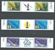 """Nle-Caledonie YT 611 à 613 Paire Vignette """" Les 3 Provinces """" 1991 Neuf** - Usati"""