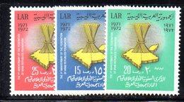APR974 - LIBIA LYBIA 1972 , Serie Yvert  N. 435/437  ***  MNH  (2380A) - Libia