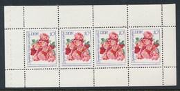 DDR 1972 MH-Bl.-Mi. 14 A Postfr. IGA Erfurt Rose - Rosen