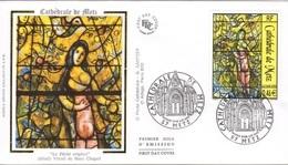 FRANCE 3498 FDC Premier Jour Vitrail Cathédrale METZ De Marc CHAGALL : Le Péche Originel - 2000-2009