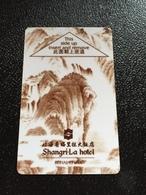 Hotelkarte Room Key Keycard Clef De Hotel Tarjeta Hotel  SHANGRI-LA BEIHAI - Telefonkarten