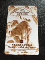 Hotelkarte Room Key Keycard Clef De Hotel Tarjeta Hotel  SHANGRI-LA  GOLDEN FLOWER XIAN - Phonecards