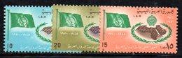 APR911 - LIBIA LYBIA 1970 , Serie Yvert  N. 356/358  ***  MNH  (2380A) - Libia
