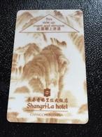 Hotelkarte Room Key Keycard Clef De Hotel Tarjeta Hotel  SHANGRI-LA  CHANGCHUN - Phonecards