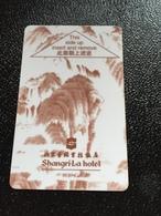 Hotelkarte Room Key Keycard Clef De Hotel Tarjeta Hotel  SHANGRI-LA  BEIJING - Phonecards