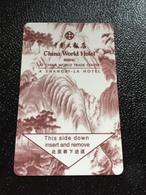 Hotelkarte Room Key Keycard Clef De Hotel Tarjeta Hotel  SHANGRI-LA  BEIJING WORLD TRADE CENTER - Phonecards