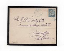 !!! PRIX FIXE : LEVANT, LETTRE DE LATTAQUIE DE 1908 POUR WASHINGTON - Lettres & Documents
