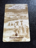 Hotelkarte Room Key Keycard Clef De Hotel Tarjeta Hotel  SHANGRI - LA  SURABAYA Old Light - Telefonkarten