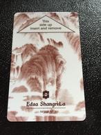 Hotelkarte Room Key Keycard Clef De Hotel Tarjeta Hotel  SHANGRI - LA   MANILA Gray - Phonecards