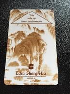 Hotelkarte Room Key Keycard Clef De Hotel Tarjeta Hotel  SHANGRI - LA   MANILA Brown - Phonecards