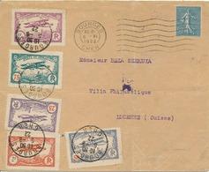 Meeting De Bourges - 6 Juin1922 -Série Complète Des 5 Vignettes - Destination Peu Courante ( Suisse ) Bon état +++ - Marcophilie (Lettres)