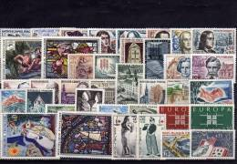 FRANCE ANNEE 1963, 38 Timbres Neufs MNH ** LUXE N° 1368 Au N° 1403 - France