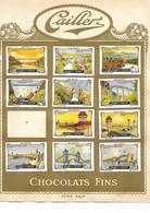 Images Chocolat Cailler 18. Ponts Et Ecritures. Séries 29 Et 30. Collées Sur Feuille Album.. Envoi 1,72 €. - Autres