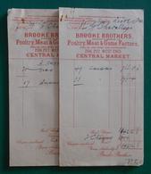 Dix-huit Documents Commerciaux à Entête De La Maison Brooke Brothers Sise à Londres - Années 1920 - Royaume-Uni