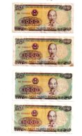 Viet Nam - 4 Billets-voir état. - Coins & Banknotes