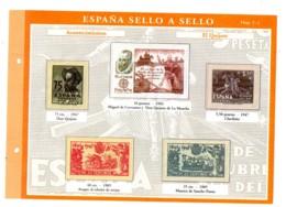Espana -sello A Sello -Hoja C1-retirage Acontecimientos-voir état. - Essais & Réimpressions