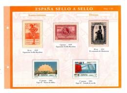 Espana -sello A Sello -Hoja C3-retirage Acontecimientos-voir état. - Essais & Réimpressions