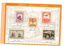 Espana -sello A Sello -Hoja C4-retirage Acontecimientos-voir état. - Essais & Réimpressions