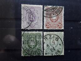 Allemagne Deutsches Reich  1879 ,4 Timbres Yvert No 37, 40 , 41 , 41 A  Obl TB Cote 25 Euros - Deutschland
