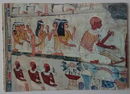 Luxor, Tombs Of Nobles - Mural Painting In The Tomb Of Nakht - Egypt Art - Ataturk Stamp  - Vg - Luxor