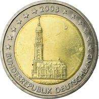 République Fédérale Allemande, 2 Euro, Cathédrale D'Hambourg, 2008, TTB - Allemagne