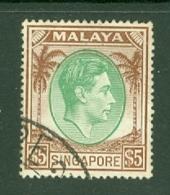 Singapore: 1948/52   KGVI   SG30    $5   [Perf: 17½ X 18]    Used - Singapore (...-1959)