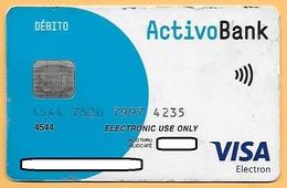 CREDIT / DEBIT CARD - ACTIVO BANK BCP 002 (PORTUGAL) - Geldkarten (Ablauf Min. 10 Jahre)