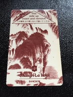Hotelkarte Room Key Keycard Clef De Hotel Tarjeta Hotel  SHANGRI - LA   BANGKOK - Telefonkarten