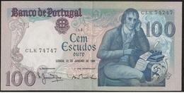 Nota Portugal Capicua - Banknote Portugal Palindrome - 100 Escudos 31 Janeiro 1984 - Manuel Maria Du Bocage - Bela - Portugal