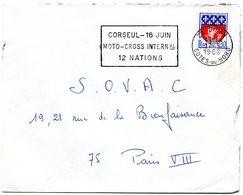 COTES Du NORD - Dépt N° 22 =  DINAN 1968 = FLAMME Codée = SECAP  ' CORSEUL + MOTO-CROSS INTal / 12 NATIONS ' - Mechanische Stempels (reclame)