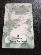 Hotelkarte Room Key Keycard Clef De Hotel Tarjeta Hotel  SHANGRI - LA  TANJUNG ARU KOTA KINABALU Light - Phonecards