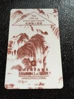 Hotelkarte Room Key Keycard Clef De Hotel Tarjeta Hotel  SHANGRI - LA  HANGZHOU Red Shining - Phonecards