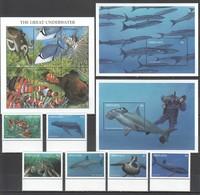 C1190 GRENADA FAUNA GREAT UNDERWATER FISH & MARINE LIFE !!! 1KB+2BL+1SET MNH - Vie Marine