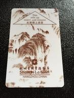 Hotelkarte Room Key Keycard Clef De Hotel Tarjeta Hotel  SHANGRI - LA  HANGZHOU Brown - Phonecards
