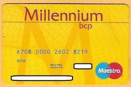 CREDIT / DEBIT CARD - BANCO MILLENNIUM BCP 032 (PORTUGAL) - Geldkarten (Ablauf Min. 10 Jahre)