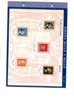 Espana -sello A Sello -Hoja H01-retirage La Historia-voir état. - Proofs & Reprints