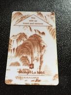 Hotelkarte Room Key Keycard Clef De Hotel Tarjeta Hotel  SHANGRI - LA  KUALA LUMPUR Dark - Phonecards