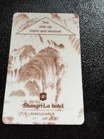 Hotelkarte Room Key Keycard Clef De Hotel Tarjeta Hotel  SHANGRI - LA  KUALA LUMPUR Light - Phonecards