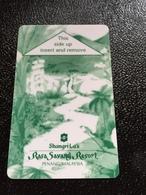 Hotelkarte Room Key Keycard Clef De Hotel Tarjeta Hotel  SHANGRI - LA  RASA SAVANG RESORT PENANG Dark Green - Telefonkarten