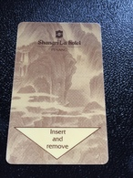 Hotelkarte Room Key Keycard Clef De Hotel Tarjeta Hotel  SHANGRI - LA  PENANG Gold - Phonecards