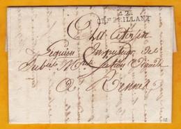 1795 - Marque Postale 42. CHat BRILLANT, Chateaubriant, Loire Inférieure Sur Lettre De 3 P.vers Rennes, Ille & Vilaine - 1701-1800: Précurseurs XVIII