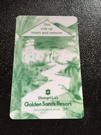 Hotelkarte Room Key Keycard Clef De Hotel Tarjeta Hotel  SHANGRI - LA  PENANG GOLDEN SANDS RESORT - Phonecards