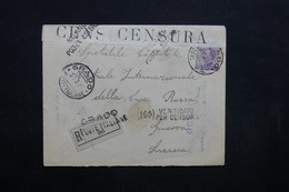 ITALIE - Enveloppe En Recommandé De Grado Pour La Suisse En 1916 Avec Contrôle Postal , Voir Griffes - L 32364 - 1900-44 Vittorio Emanuele III